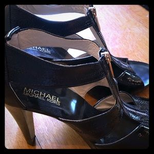 Michael Kors shiny black dress sandals